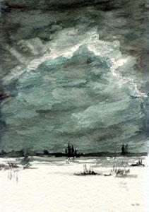Landschaften - Winternacht - Friedhelm Weber