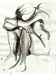 Akt in Tinte - Barnim Millarg
