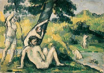 Der Badeplatz - Paul Cezanne