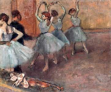 Blaue T�nzerinnen auf der Probenb�hne - Edgar Degas