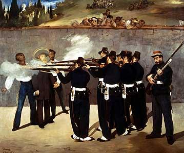 Die Erschießung Kaiser Maximilians - Edouard Manet