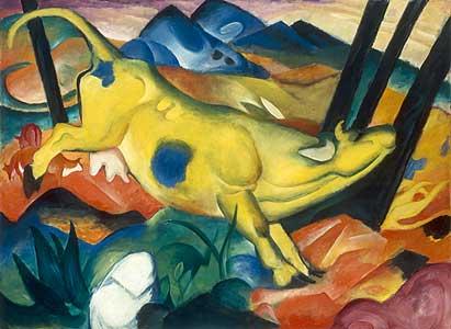 Die gelbe Kuh - Franz Marc
