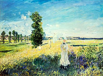 La Promenade - Argenteuil) - Claude Monet