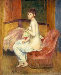 Junger weiblicher Akt, sitzend - Auguste Renoir