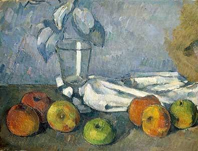 Glas und Äpfel - Paul Cezanne