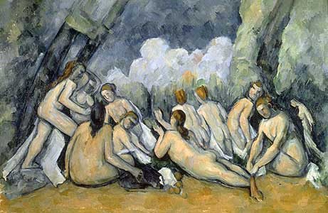 Die großen Badenden - Paul Cezanne