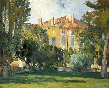 Das Haus in Jas de Bouffan - Paul Cezanne