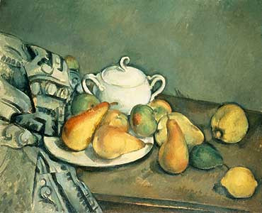 Stilleben mit Zuckerdose, .... - Paul Cezanne