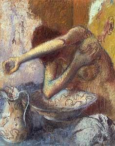 Junge Frau bei der Toilette - Edgar Degas