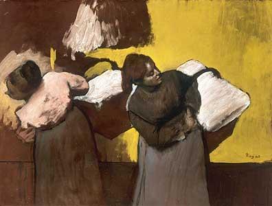 W�scherinnen beim Austragen ... - Edgar Degas
