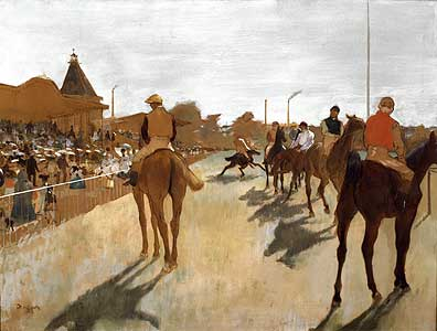 Vor dem Rennen... - Edgar Degas