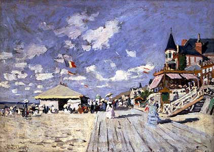 Am Strand von Trouville - Claude Monet