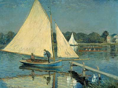 Segelboote in Argenteuil - Claude Monet