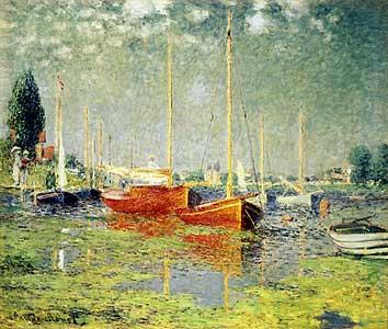 Die roten Boote, Argenteuil - Claude Monet