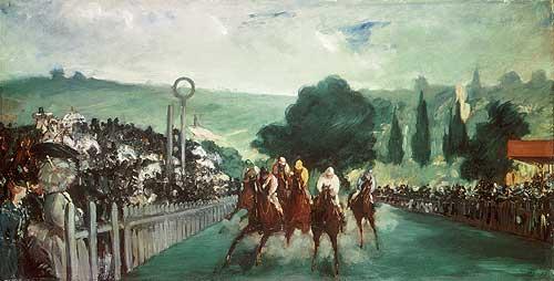 Pferderennen in Longchamps - Edouard Manet