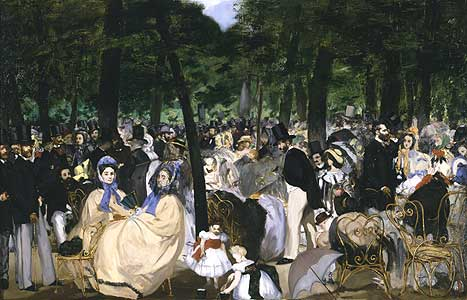 Musik im Tuileriengarten - Edouard Manet