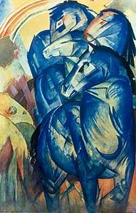 Turm der blauen Pferde - Franz Marcme