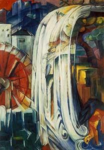 Die verzauberte Mühle - Franz Marc
