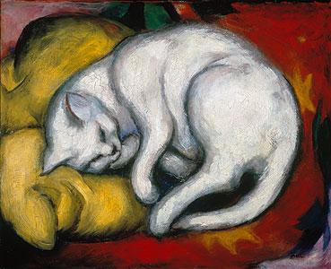 Die weisse Katze - Franz Marc