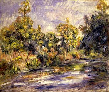 Landschaft mit Fluss - Auguste Renoir