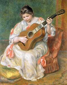 Frau mit Gitarre - Auguste Renoir