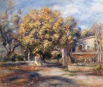 Eingang zu Haus und Garten in Cagnes - Auguste Renoir