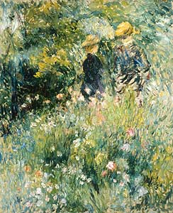 Renoir, Auguste - Begegnung im Rosengarten - Auguste Renoir