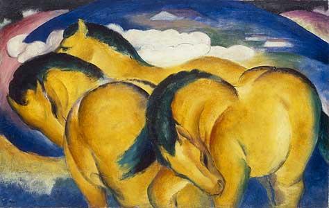 Die kleinen gelben Pferde - Franz Marc