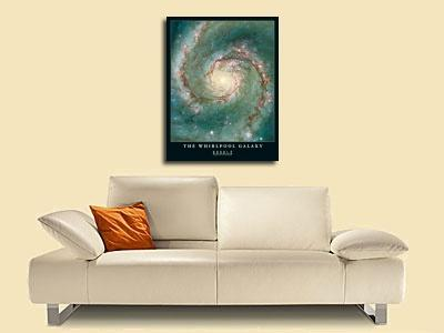 individuelle Kunstdrucke von Hubble-Nasa The Whirlpool Galaxy